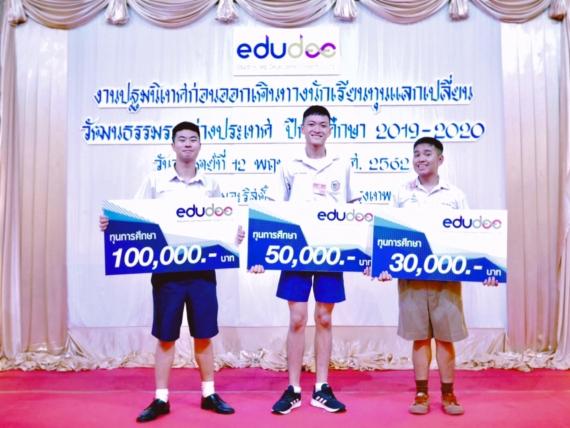 นักเรียนแลกเปลี่ยนที่ได้รับทุนจากสถาบันเอ็ดยูดีปีการศึกษา 2019-2020