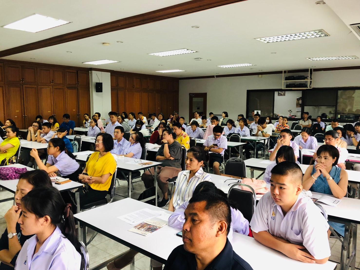 บรรยากาศการสอบชิงทุนนักเรียนแลกเปลี่ยนโรงเรียนหอวัง