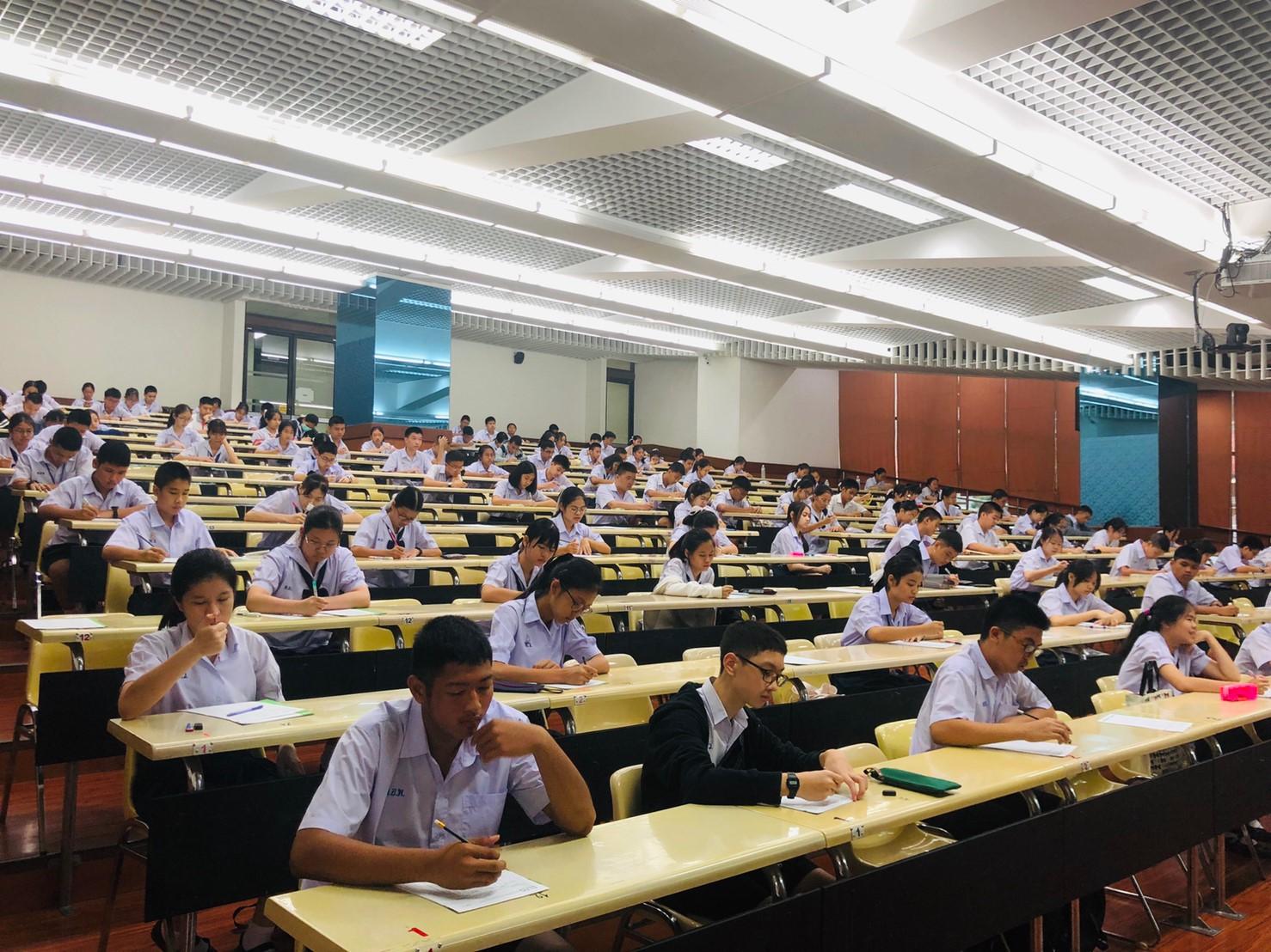 บรรยากาศการจัดสอบคัดเลือกนักเรียนแลกเปลี่ยนรัฐบาลอเมริกา-สิงหาคม